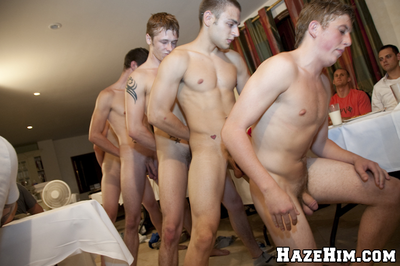 naked college pledges get hazed at frat boy dinner